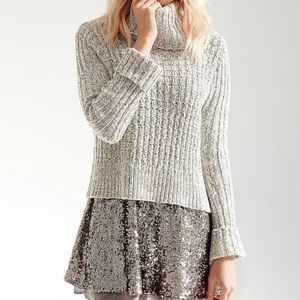 Free People | Twisted Cable Turtleneck Sweater L